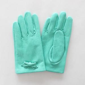 子供用革製ファッション手袋(グローブ)7〜8才児用 ミント Junior Sheep Skin Leather Glove|earth-shop