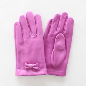 子供用革製ファッション手袋(グローブ)7〜8才児用 ローズ Junior Sheep Skin Leather Glove|earth-shop