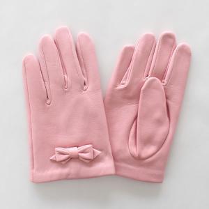子供用革製ファッション手袋(グローブ)7〜8才児用 ライトピンク Junior Sheep Skin Leather Glove|earth-shop