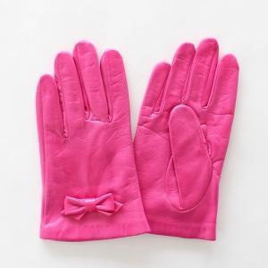 子供用革製ファッション手袋(グローブ)7〜8才児用 ピンク Junior Sheep Skin Leather Glove|earth-shop