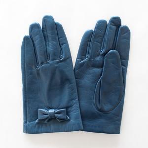 子供用革製ファッション手袋(グローブ)7〜8才児用 ネイビー Junior Sheep Skin Leather Glove|earth-shop