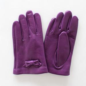 子供用革製ファッション手袋(グローブ)7〜8才児用 パープル Junior Sheep Skin Leather Glove|earth-shop
