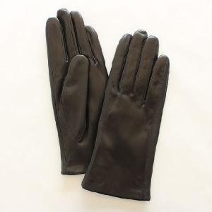 レディース(婦人)羊革手袋(グローブ)ノーマル ブラック 「美指-UTSUKUSHI(ウツクシ)」シリーズ|earth-shop