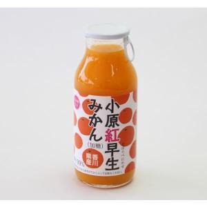 小原紅早生 おはらべにわせ みかんジュース 180ml 希少糖含有 香川県産 国産 讃岐罐詰|earth-shop