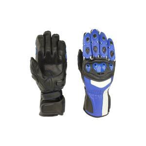 バイク用セミレーシンググローブ ブルー/男性用 GCG-103BL G-cubic ジーキュービック|earth-shop