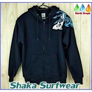 caf5ff3c664b14 【メンズジップアップパーカー/Shaka surfwear/紺】HAWAII ダークブルー【トライバル ...