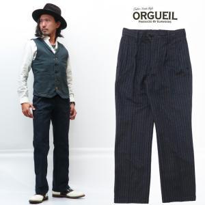 ORGUEIL オルゲイユ フレンチストライプ トラウザーズ ワークパンツ OR-1053B 【20...