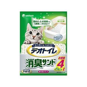ユニチャーム 1週間消臭・抗菌デオトイレ 取替え専用 消臭サンド 4L