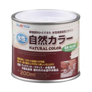 アトムハウスペイント 水性自然カラー(天然油脂ステイン) 200ML ミディアムブラウン