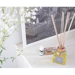 リードディフューザー 自然派アロマ 100%植物性成分 ガラスボトル 選べる香り&スティック(オイル90ml  リード3mm×10)説明書有 mobilier(モビリエ) ease-aroma 02
