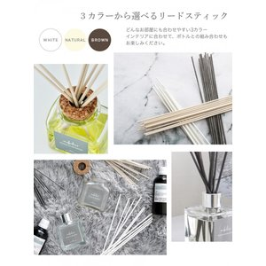 リードディフューザー 自然派アロマ 100%植物性成分 ガラスボトル 選べる香り&スティック(オイル90ml  リード3mm×10)説明書有 mobilier(モビリエ) ease-aroma 12