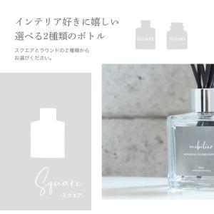 リードディフューザー 自然派アロマ 100%植物性成分 ガラスボトル 選べる香り&スティック(オイル90ml  リード3mm×10)説明書有 mobilier(モビリエ) ease-aroma 09
