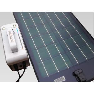 ポータブル フレキシブル ソーラー 蓄電セット (固定設置:粘着シート 発電 90W 出力 400W) 【 充電 フレキシブル CIGS薄膜型 】|ease-style