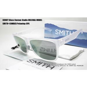 カスタム偏光サングラス スミス SMITH Lowdown XL2 MtCrystal ローダウン/ COMBEX Polawing SPX151 CR 4C HMM ディープグレイ88 SILミラー|eass