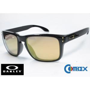 (レンズ 入換済)オークリー カスタム偏光 サングラス OAKLEY HOLBROOK (A) 9244-49 / COMBEX SPX106 (HMM) GOLD MIRROR|eass
