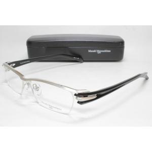 メガネ 眼鏡 度付レンズ 加工無料 MASAKI MATSUSHIMA マサキマツシマ MF 1200 シルバー/ブラック col.2|eass