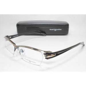 メガネ 眼鏡 度付レンズ 加工無料 MASAKI MATSUSHIMA マサキマツシマ MF 1200 ブラック シルバー/ダークグレー col.4|eass