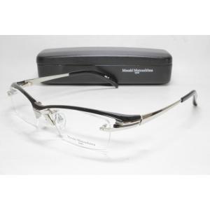 メガネ 眼鏡 度付レンズ 加工無料 MASAKI MATSUSHIMA マサキマツシマ MF 1204 ブラック シルバー/シルバー col.3|eass