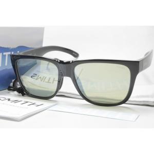 SMITH スミス 偏光サングラス ACTION POLAR SERIES 207700051 Lowdown 2 (NEW) BlackX-Light Green37 Silver Mirror|eass