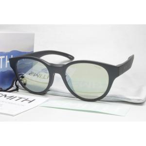 SMITH スミス 偏光サングラス ACTION POLAR SERIES 207700100 Snare (New) Matte Black X-Light Green37 Silver Mirror|eass