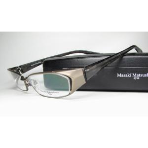 メガネ 眼鏡 度付レンズ 加工無料 MASAKI MATSUSHIMA マサキマツシマ MF 1101 アンティークカーキ/ブラウンストーン c 3|eass