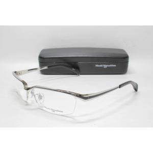 メガネ 眼鏡 MASAKI MATSUSHIMA マサキマツシマ MFH 102 シルバー ブラック col.1|eass