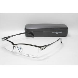 メガネ 眼鏡 度付レンズ 加工無料 MASAKI MATSUSHIMA マサキマツシマ MF 1194 ブラック シルバー col.4|eass