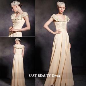 ロングドレス / 高級ドレス 演奏会 発表会 コンサート ステージ衣装 パーティードレス / 結婚式にも Aラインロングドレス|east-beauty