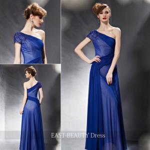 ロングドレス / 演奏会ドレス カラードレス 声楽・ピアノコンサート パーティー 結婚式 / ステージドレス 青色 ブルー|east-beauty