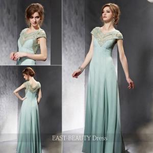 ロングドレス / 演奏会ドレス カラードレス 声楽・ピアノコンサート パーティー 結婚式 / ミントグリーン スマート|east-beauty
