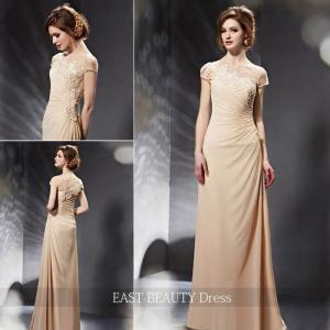 ロングドレス / 演奏会ドレス カラードレス 声楽・ピアノコンサート パーティー 結婚式 / シンプル 袖付き スレンダー|east-beauty