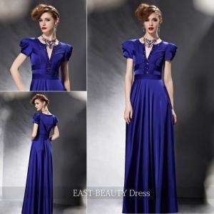 ロングドレス / 演奏会ドレス カラードレス 声楽・ピアノコンサート パーティー 結婚式 / 半袖付き 個性的|east-beauty