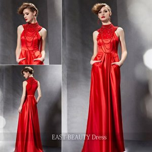 ロングドレス / 演奏会ドレス カラードレス 声楽・ピアノコンサート パーティー 結婚式 / 豪華 セクシー 素敵ロングドレス|east-beauty