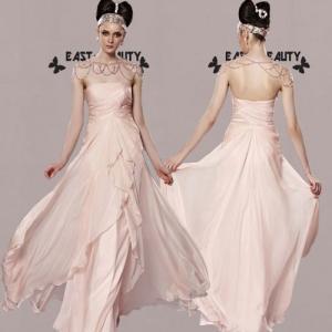 ロングドレス / 高級ドレス 演奏会ドレス ステージドレス 舞台衣装 パーティードレス セクシー / ピンクチューブトップドレス|east-beauty
