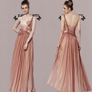 ロングドレス / 高級ドレス 演奏会ドレス ステージドレス 舞台衣装 パーティードレス セクシー / ヌードカラードレス|east-beauty