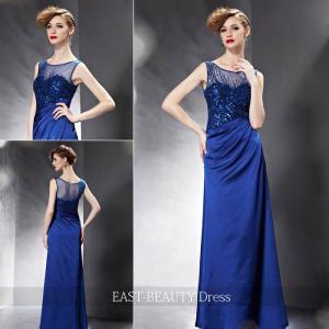 ロングドレス / 演奏会ドレス カラードレス 声楽・ピアノコンサート パーティー 結婚式 / 青色 ロングドレス|east-beauty