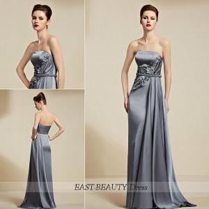 ロングドレス / 演奏会用ドレス 声楽 ステージドレス パーティードレス / チューブトップ ベアトップ サイドドレープ|east-beauty