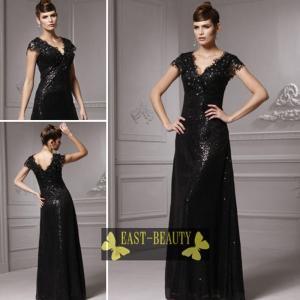 ロングドレス / 大きいサイズあり 演奏会用ロングドレス ステージドレス パーティードレス / ブラック 黒 スレンダードレス|east-beauty