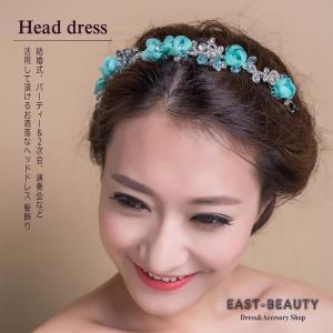 ウェディング ヘッドドレス ビジュー ヘアアクセサリー / カチューシャ型 3カラー 髪飾り / 結婚式 ブライダル 披露宴 花嫁 / k-h-376|east-beauty|06