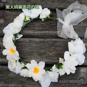 花かんむり / お花の冠 結婚式 ウェディング 海外挙式 / カチューシャ型の造花の花冠|east-beauty|02