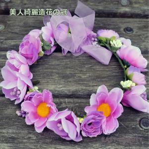 花かんむり / お花の冠 結婚式 ウェディング 海外挙式 / カチューシャ型の造花の花冠|east-beauty|03