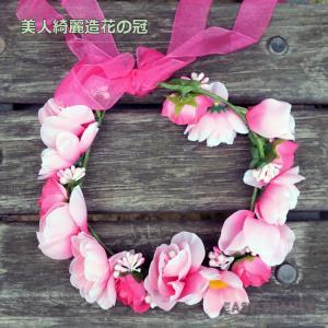 花かんむり / お花の冠 結婚式 ウェディング 海外挙式 / カチューシャ型の造花の花冠|east-beauty|04