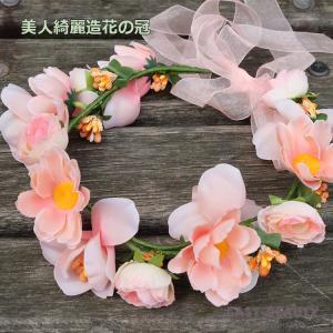 花かんむり / お花の冠 結婚式 ウェディング 海外挙式 / カチューシャ型の造花の花冠|east-beauty|05