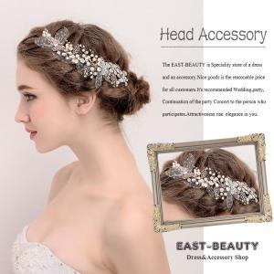 ヘッドドレス ヘアアクセサリー ウェディング 結婚式 披露宴 二次会 パーティー 花嫁ヘア k-h-601|east-beauty