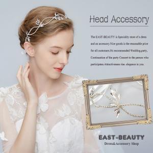 ヘッドドレス ビジュー ヘアアクセサリー ウェディング 結婚式 披露宴 二次会 パーティー 花嫁ヘア k-h-641|east-beauty