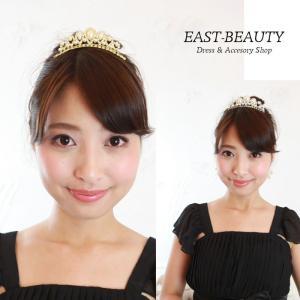 ティアラ / ヘアアクセサリー パール&ラインストーンティアラ|east-beauty