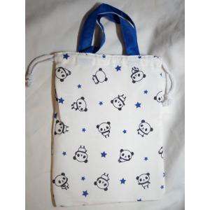 サイズ:W22×H29cm 素材:ポリエステル+綿+レーヨン 生産:中国 上履きなどを入れる袋として...