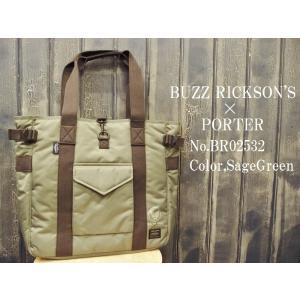 バズリクソンズ 【BUZZ RICKSON'S×PORTER】トートバッグ BUZZ RICKSON...