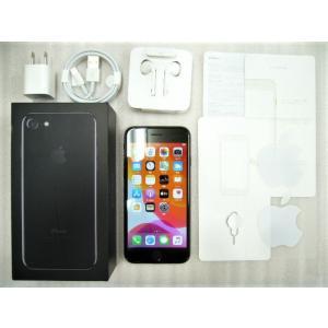 【中古】 SIMフリー iPhone7 32GB ジェットブラック 黒 格安SIM対応 MVNO対応...