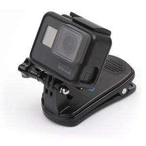 GoPro HERO9/8/7/6/5用クリップ マウント 360°回転式ゴープロ クリップマウント...